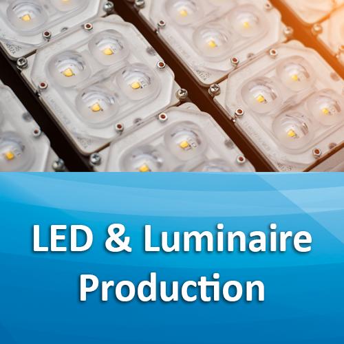 led and luminaire production